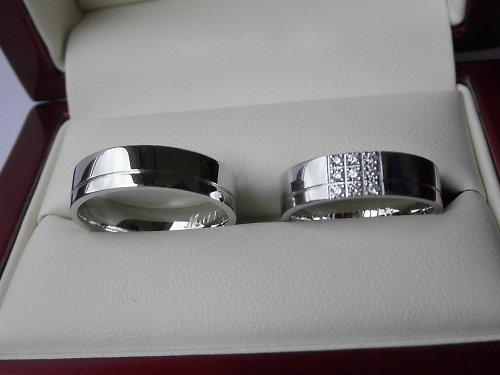 Snubní prsteny se zirkony - verze 2