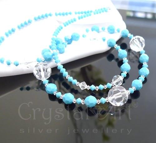 Dlhý tyrkysový náhrdelník