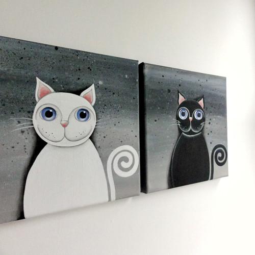 černá kočička fotky zezadu