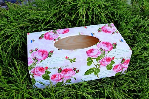 Krabička na kapesníky - růžičky