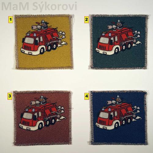 Nažehlovací aplikace hasiči digi tisk barvy II