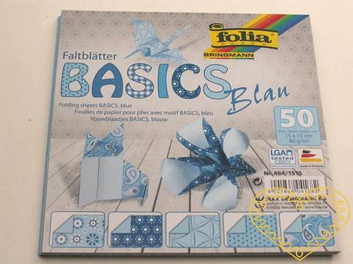 Modré papíry na origami a další výtvarné techniky