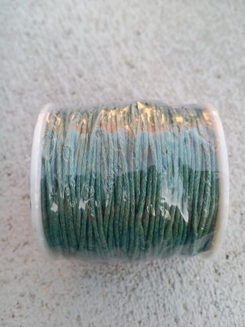zelená bavlněná šňůrka
