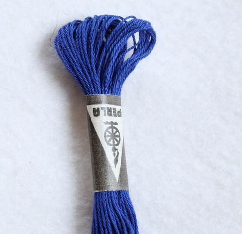 Vyšívací příze Perla - tmavě modrá