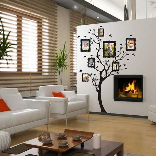 Nálepka na stenu - Strom na rodokmeň (3396n)
