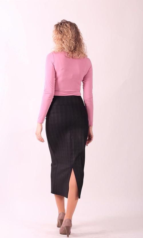 Černá lesklá dlouhá sukně - POSLEDNÍ vel. M!