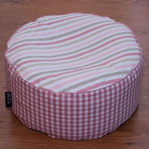 Malý sedací polštářek, růžový, EPS kuličky