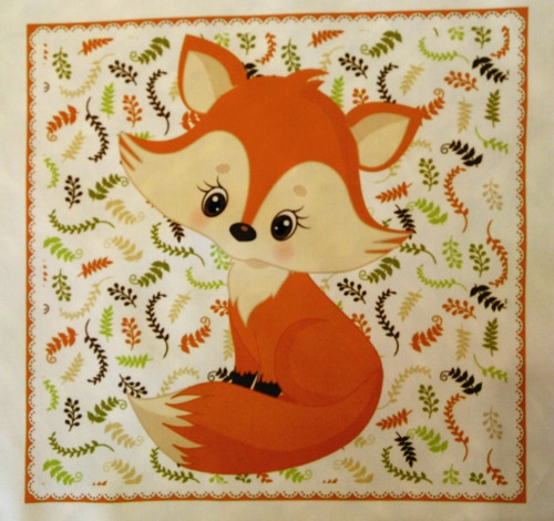 bavlněná látka - panel 23 x 23 cm