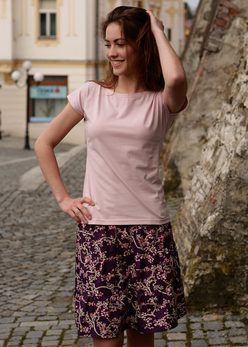 Tričko Zoja - Jednobarevka starorůžová