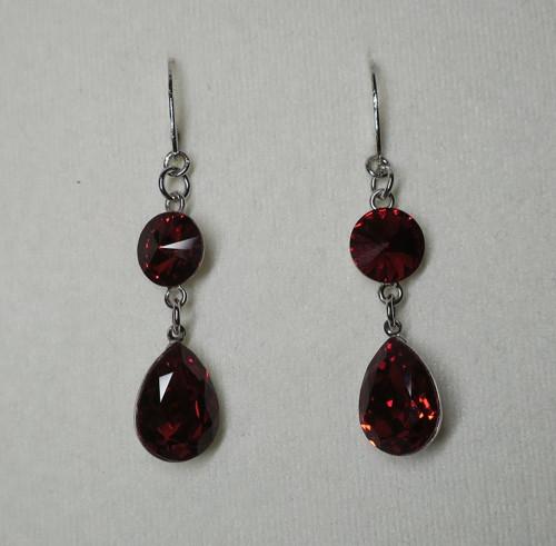 Scarlet - náušnice se Swarovski crystals