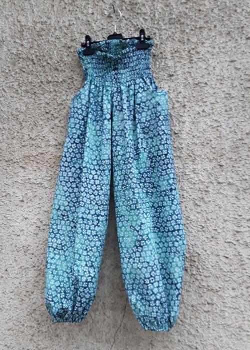 Turecké kalhoty Modro smaragdové