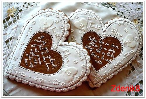 Velké svatební srdce děkovné - balené