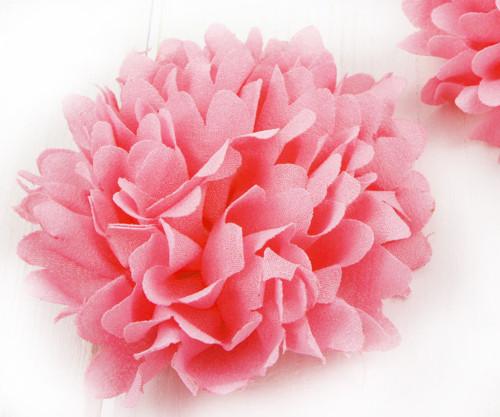 2ks Růžové Růže Předené Hedvábí Umělé Květiny Svat