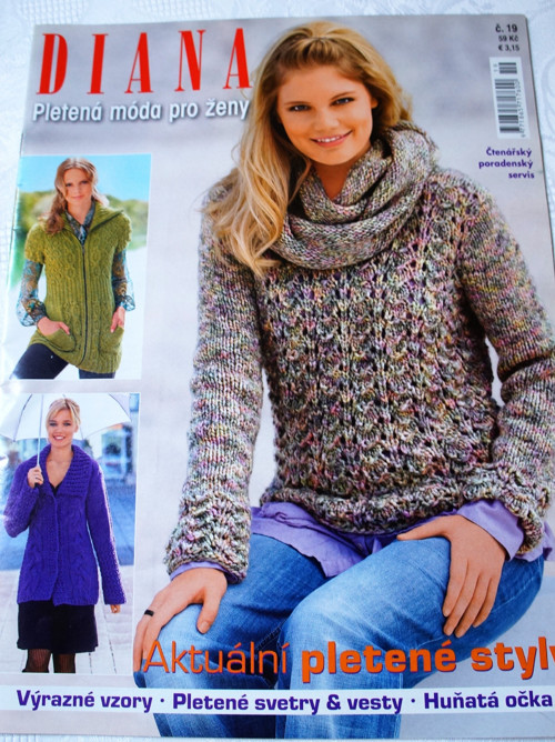Časopis Diana - Pletená móda č 19