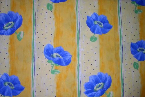 Zbytek látky v bavlně letní louka modré máky