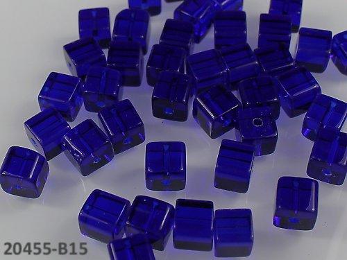 20455-B15 Korálky kostky sklo NIVEA bal.10ks