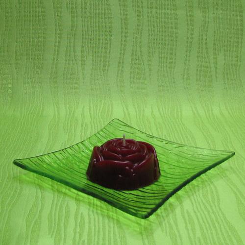 Svíčka dekorativní růže červená - broskev