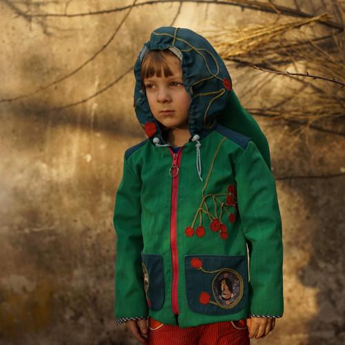 Podzim v lesní školce softshell bunda 3-5 let RECY