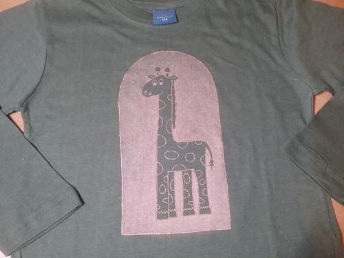 Tričko zelená žirafa