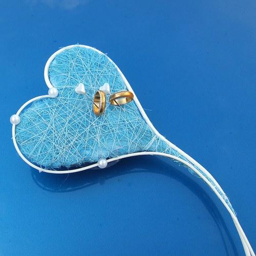 Podložka pod prstýnky(malá)-Srdíčková svatba