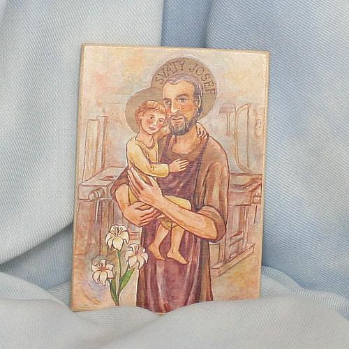 Obrázek na dřevě 7x10cm - sv. Josef