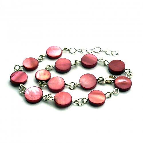 Perleťový bordó náramek