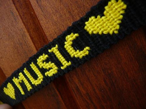 Miluji hudbu - žlutý