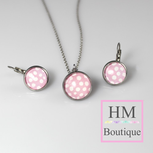 ocelový set -náušnice a náhrdelník bublinky