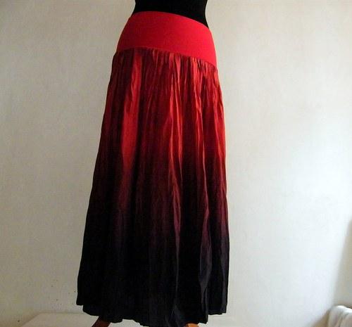 Ďábelská...dlouhá hedvábná sukně