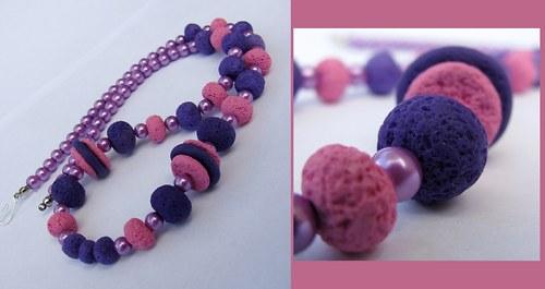 Růžovo fialová pohoda
