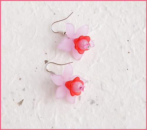 Kytičky růžovo červené