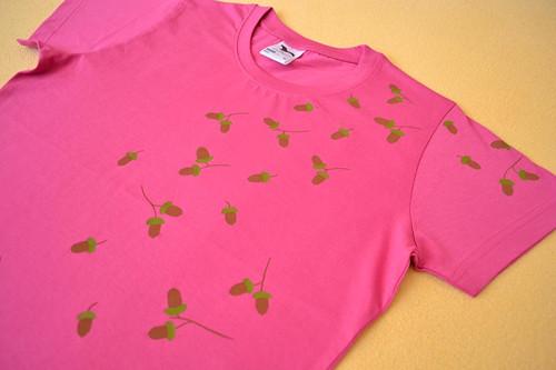 Dámské růžové (trochu podzimní) triko M