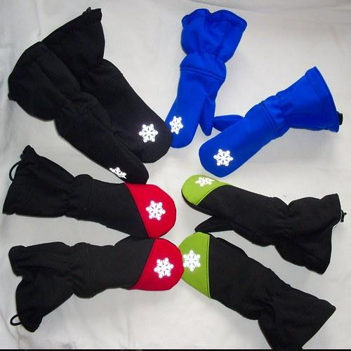 DLOOOUHÉ dětské reflexní zateplené  rukavičky