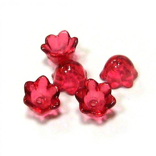Květinka - červená - 4 ks