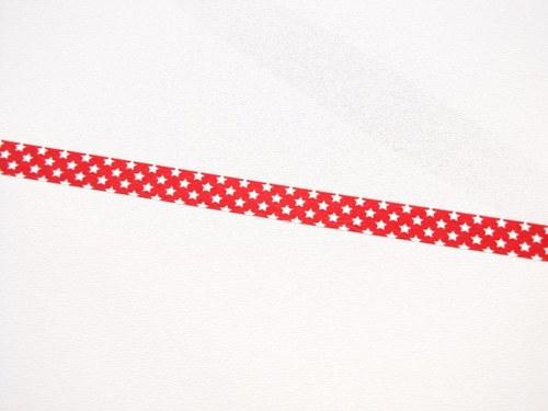 Páska: Bílé hvězdičky na červené (1,5 x 33 cm)