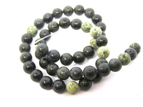 Jaspis zelený, 8 mm, 4 kusy