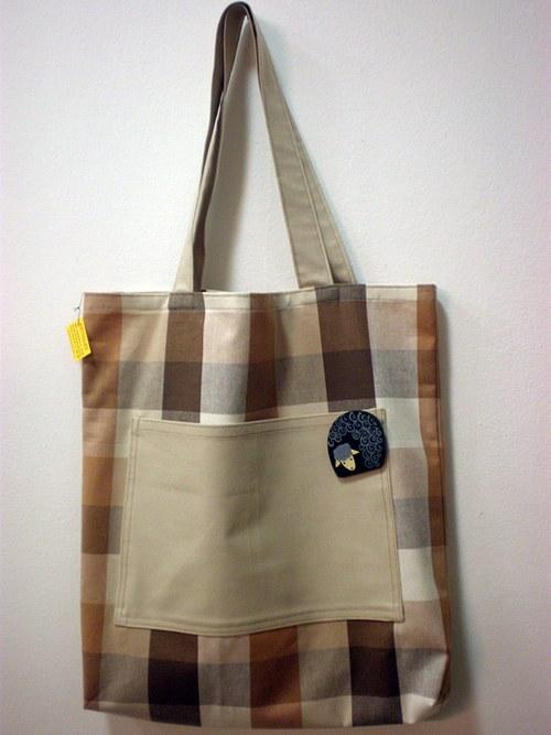 Nákupní taška s broží - ovečka