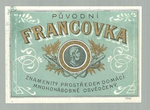 Etiketa Franckovka domácí