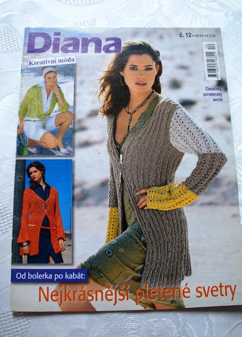 Časopis Diana-  Kreativní móda - pletení č 12