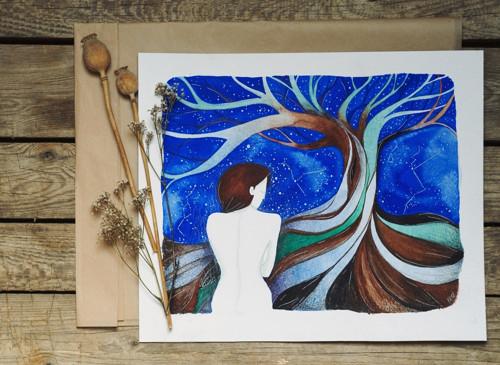 Sama - akvarel