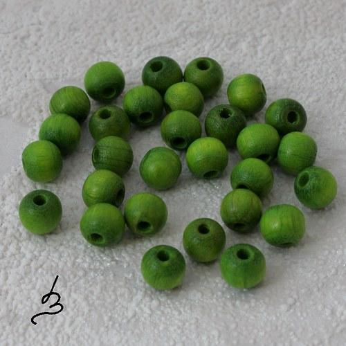 Dřevěné zelené  pr. 6 mm - bal. 30 ks