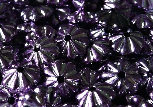 Plastová rondelka 6 x 4 mm - fialová / 10 ks