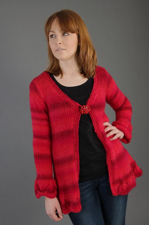 Popis - návod na pletený kabátek Ultra Red