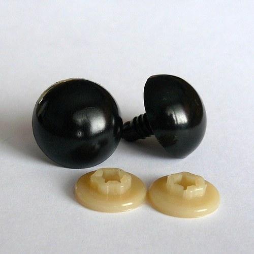 Bezpečnostní oči - černá, 20 mm