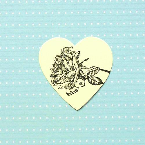 Srdíčko s růží