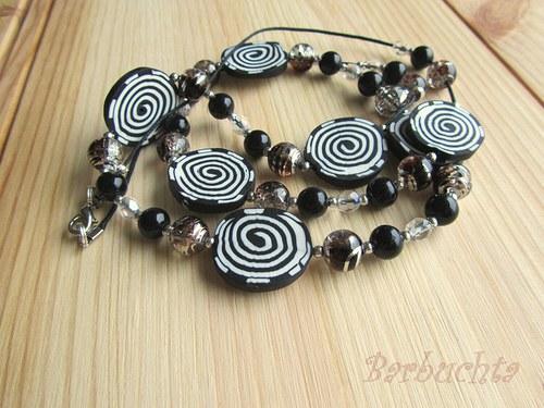 Náhrdelník Black Spirals