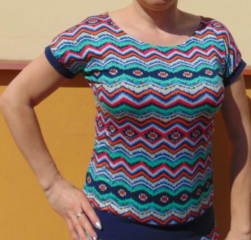 tričko Barevný vzor
