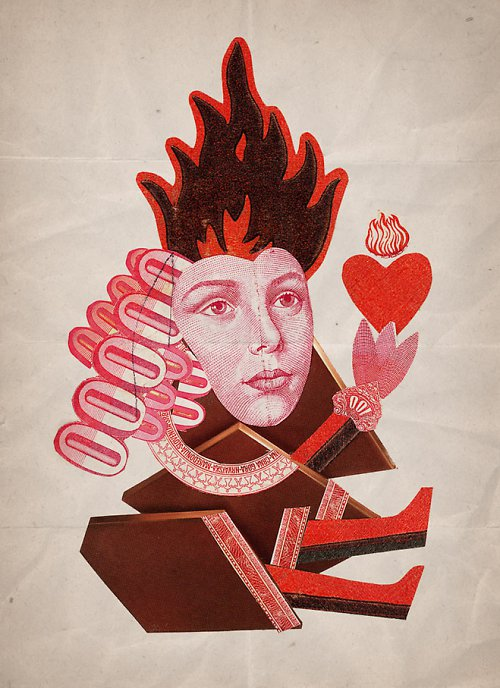 Queen of Burning Hearts (menší formát - A4)