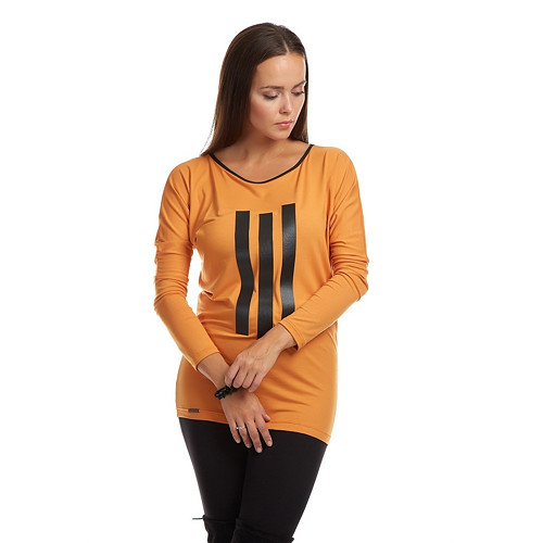 Tunika s aplikacemi DARA /  pomerančová