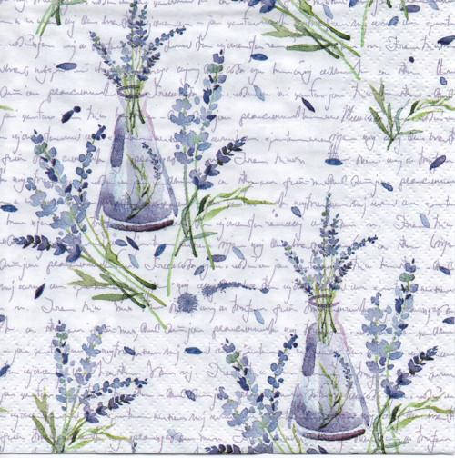 Papírový ubrousek, levandule, váza, 2 ks